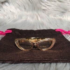 Kate Spade Glitter Goreski Glasses Bracelet Cuff